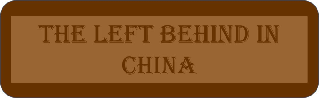 The Left Behind Children In China