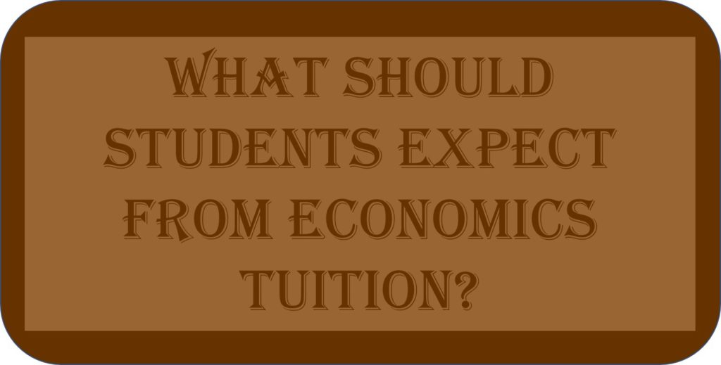 What Should Students Expect From Economics Tuition?