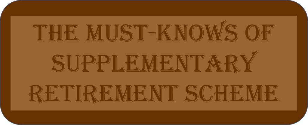 The Must-knows Of Supplementary Retirement Scheme